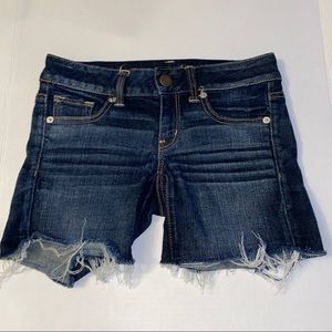 American Eagle Distressed Jean Shorts Stretch 2